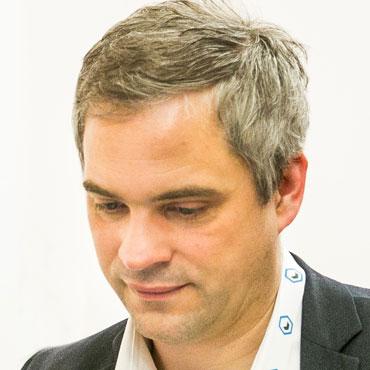 1st ECP - Karsten Fischer (BioMed Partners) at Partnering Table